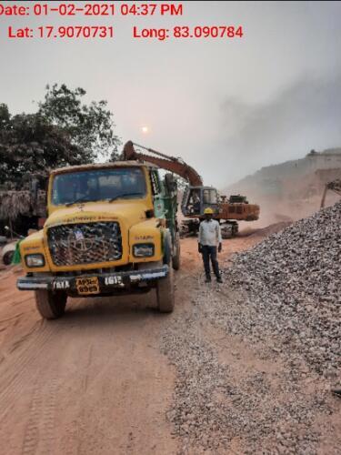 Quartzite loading
